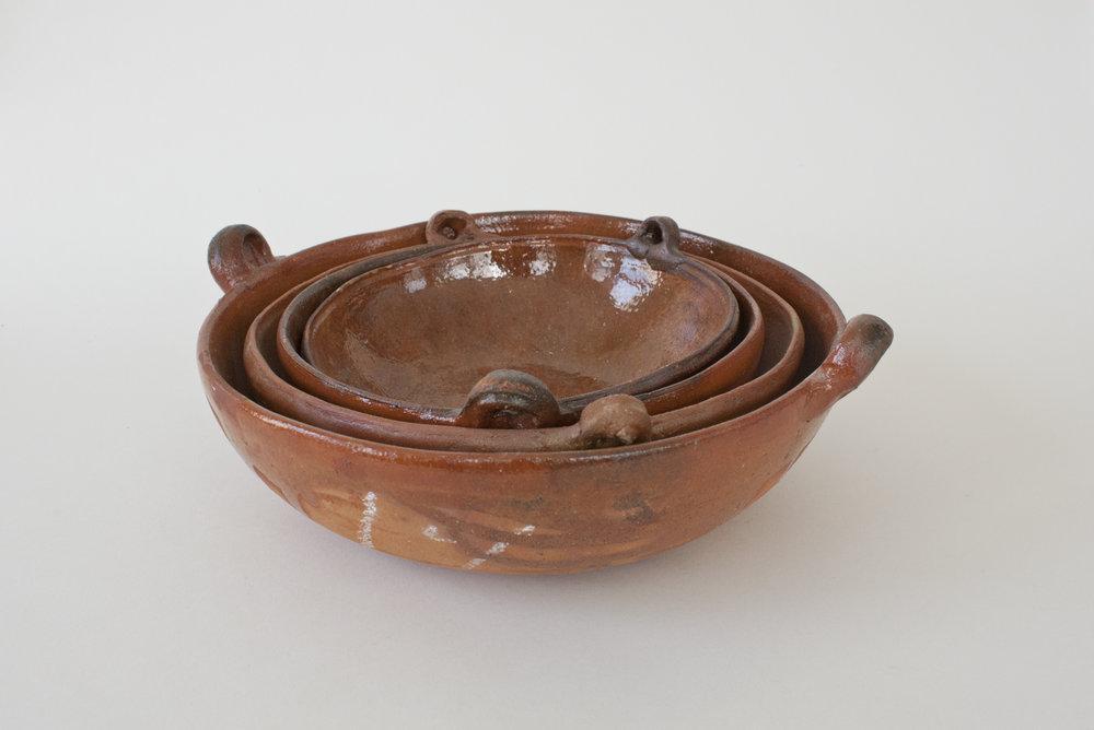 "22. terra cotta bowls | 7-10"" x 3"" | 4"