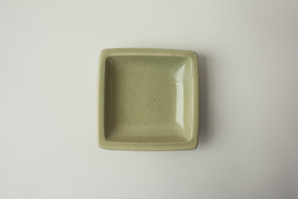 "669. square dish | 3.75"""