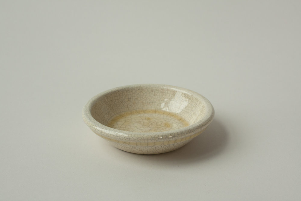 "676. crackled dish | 4.25"" x 1"" 