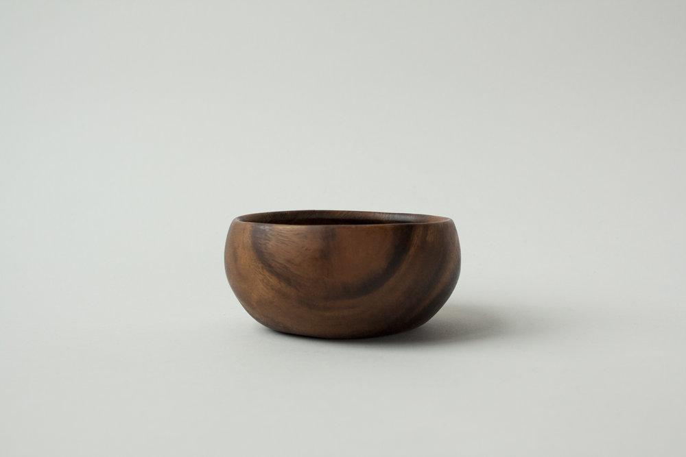 "722. wood bowl | 3.75"" x 1.75"""