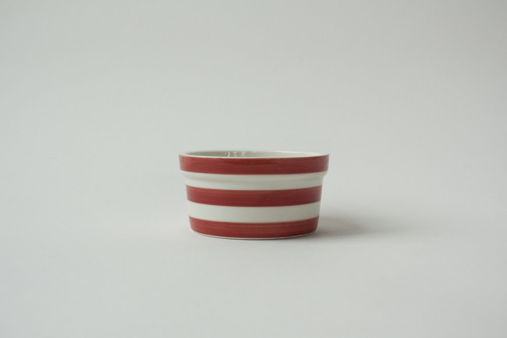 "734. striped crock | 3.5"" x 1.75"""