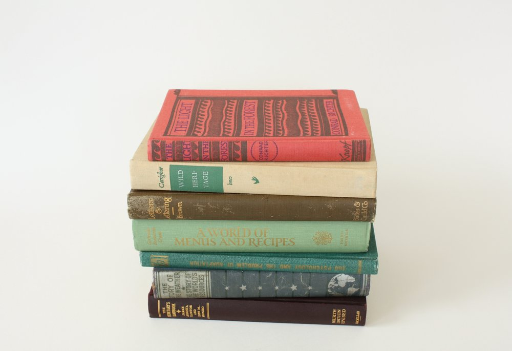 "vintage book   1"" x 8""   100"