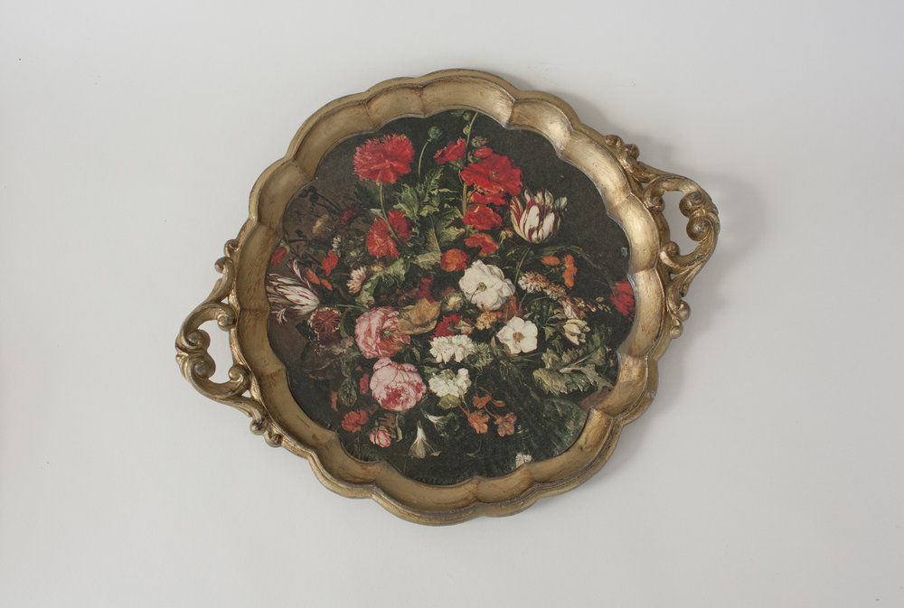 """floral tray   13.5"""" x 11.5"""""""