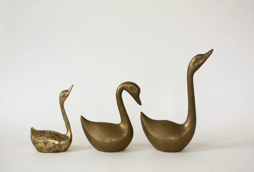 """brass duck   3"""" x 3-6""""   7"""