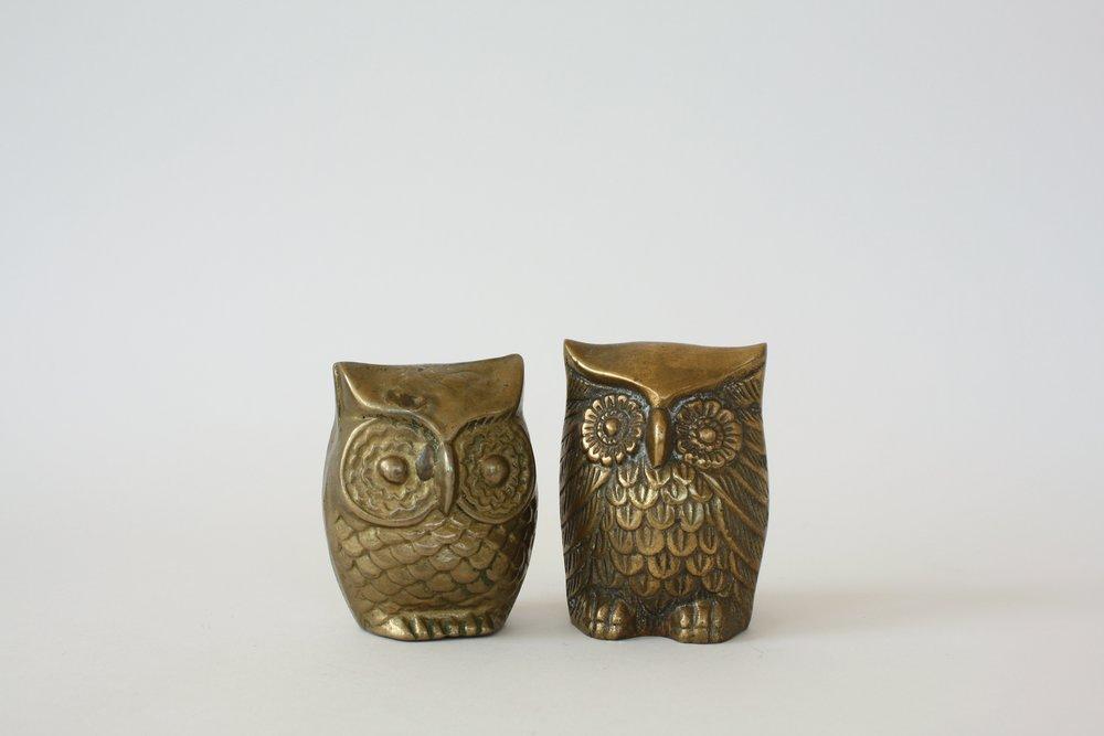 """brass owl   2"""" x 3""""   3"""