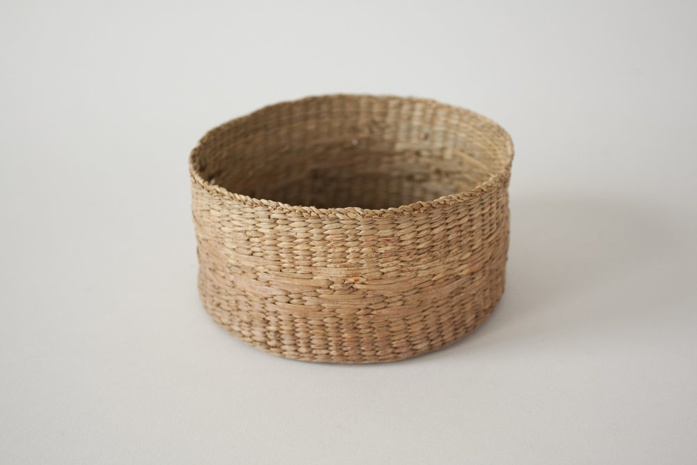 """small woven basket   5"""" x 2.5"""""""
