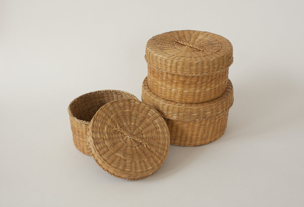 "lidded basket | 4.25""-5.25"" x 2.75"" 
