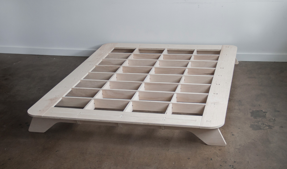 Exhibition Portable Flat Pack Furniture : Trestle bed frame — craig stover