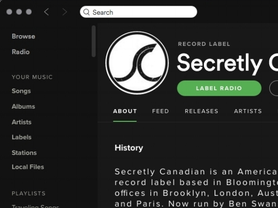 Spotify Record Label Profile Proposa l  UX Design, Product Design • Medium Article