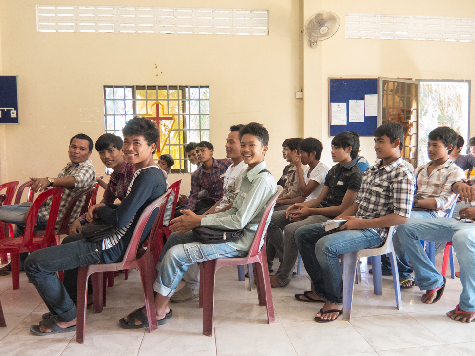 Our team attending a sports seminar organized by the Evangelical Fellowship of Cambodia.