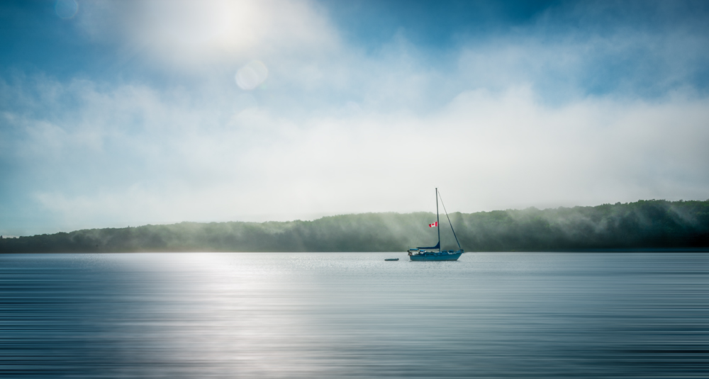 Lone Canadian Sailboat