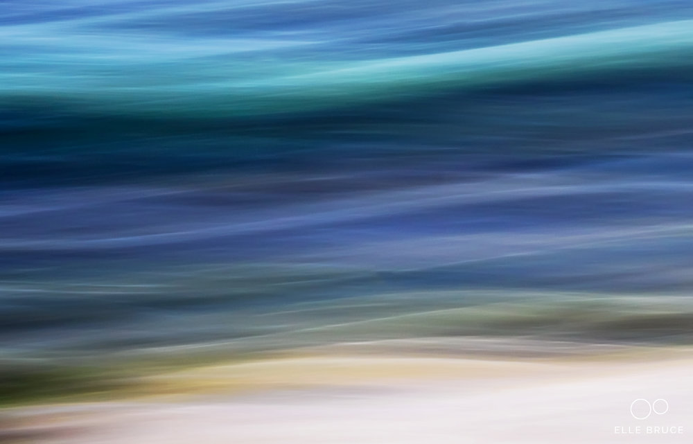 UNDULATE ©Elle Bruce  Though  Ursula Abresch  uses a different technique to create her images of colourful undulating waves, no doubt her work could be compared this detail pulled from one of my much larger images created using ICM (Intentional Camera Movement)