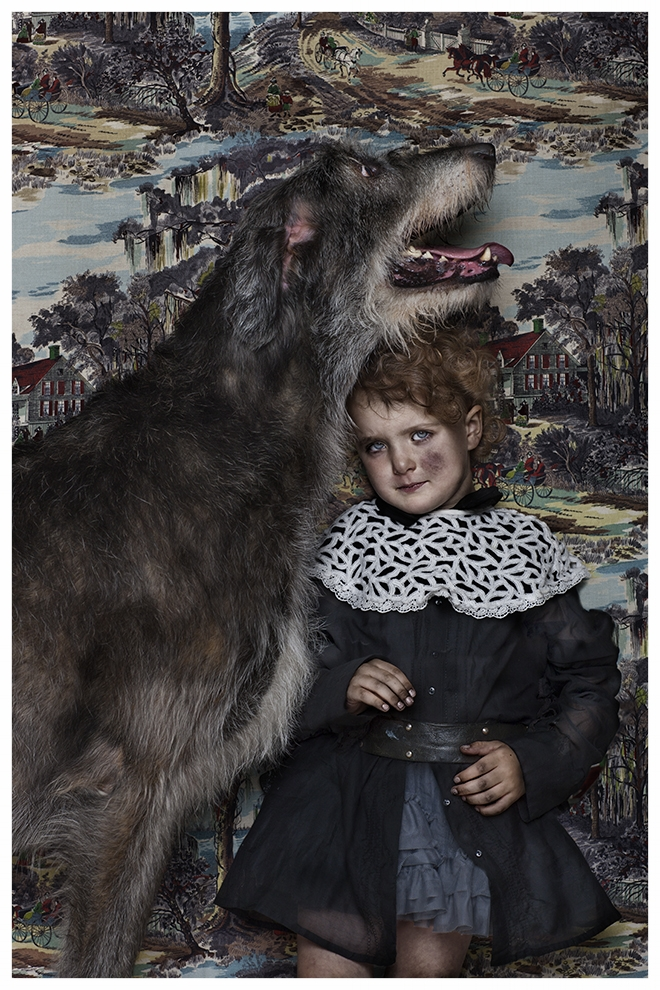 Animal Child  -  Girl with hound
