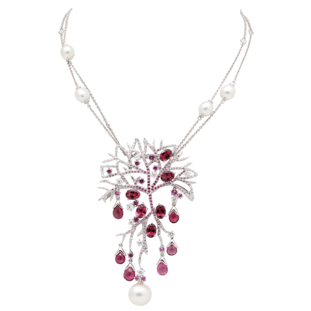 """""""Coral"""" Necklace and Earring Set by Alessio Boschi"""
