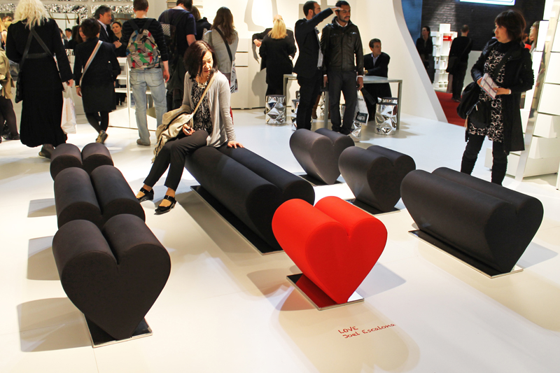 Since Last Year Joel Escalona And OPINION CIATTI Have Been Working Together  On A Small Collection Of Hearth Shaped Seats. The Collection Call LOVE Was  ...