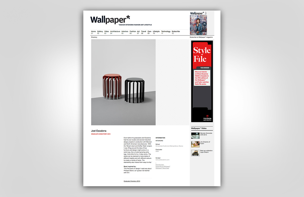 Wallpaper* | Graduate Directory 2010 | WEB