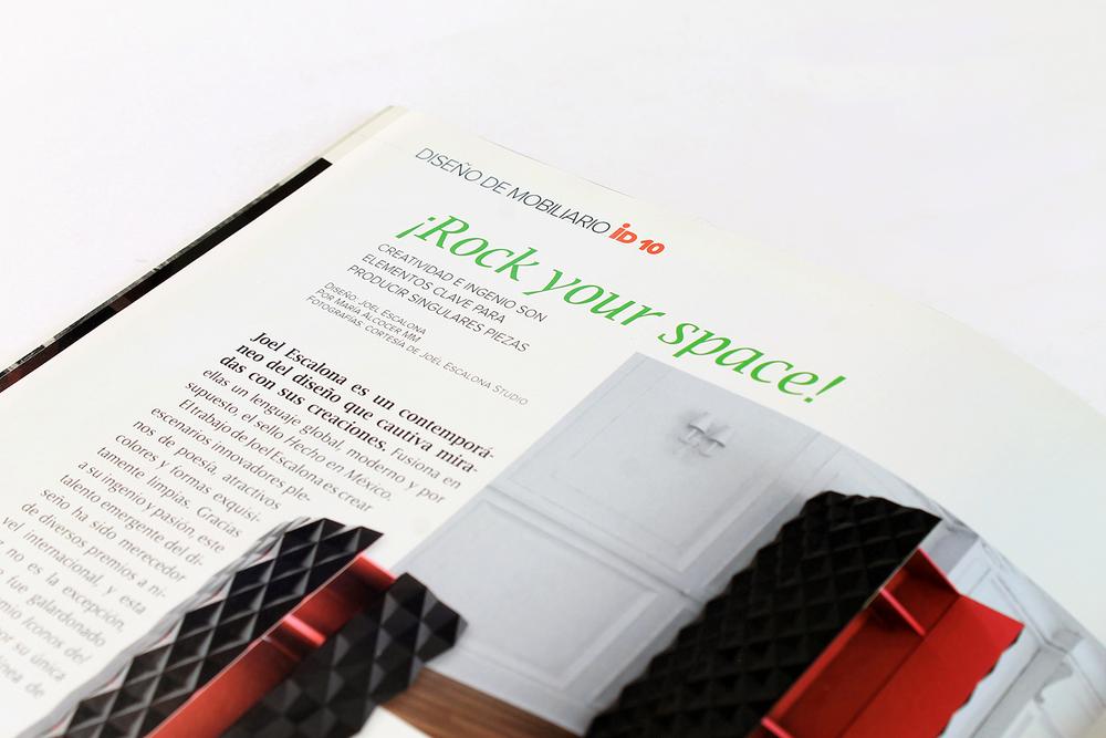 ARCHITECTURAL DIGEST | Mexico City | Sep / 2010 Premio Iconos del Diseño 2010 | Best Furniture Design
