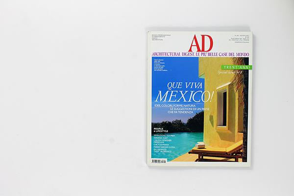AD: Architectural Digest. Le più belle case del mondo | Italy | 08.2011 Mexican Design Special