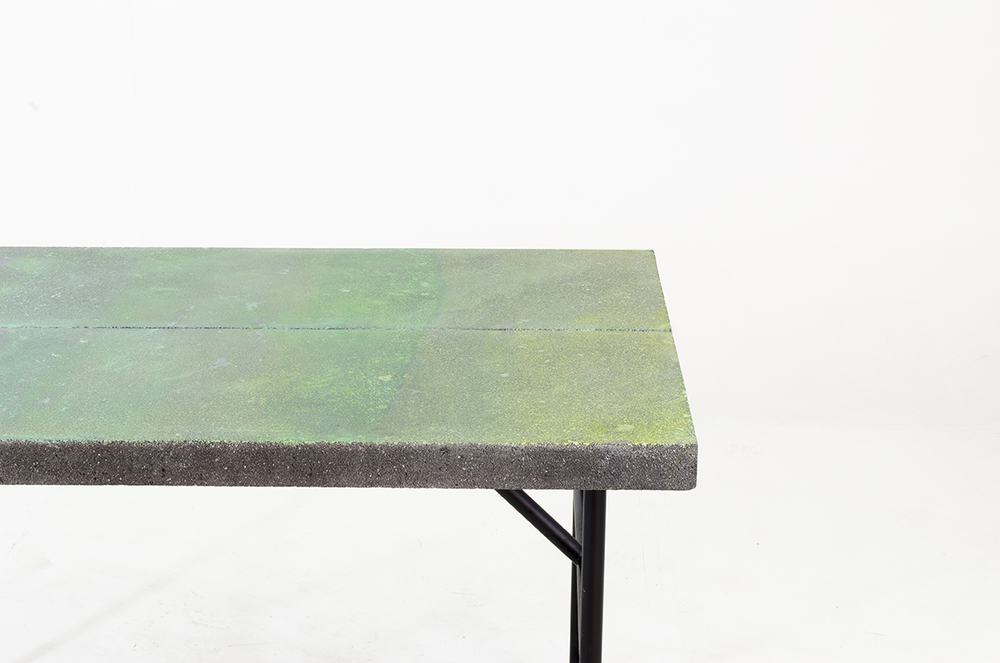 Colored Basalt Table by Panorámica