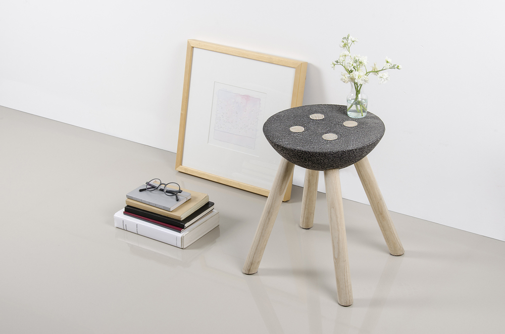 Basalt Stool by Panorámica
