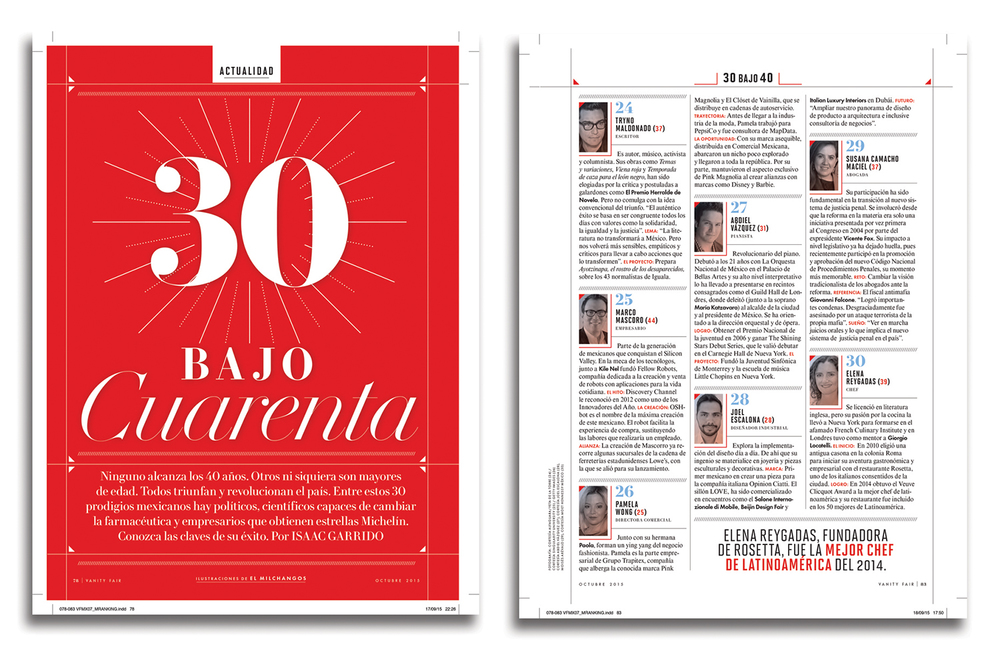 Joel Escalona within 30 personalities to follow in Mexico. Vanity Fair Mexico January - 2016