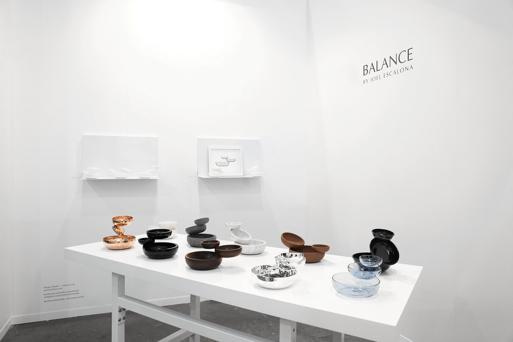 We presented   BALANCE  , Joel's latest personal  editions  collection, in   Zona Maco  , the leading contemporary art and design fair in Latin America