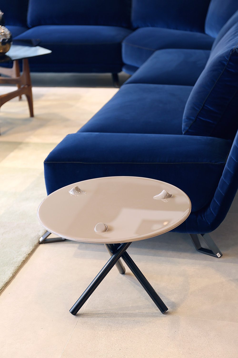 Appealing and intriguing, our new PUSH side table design for  Roche Bobois.