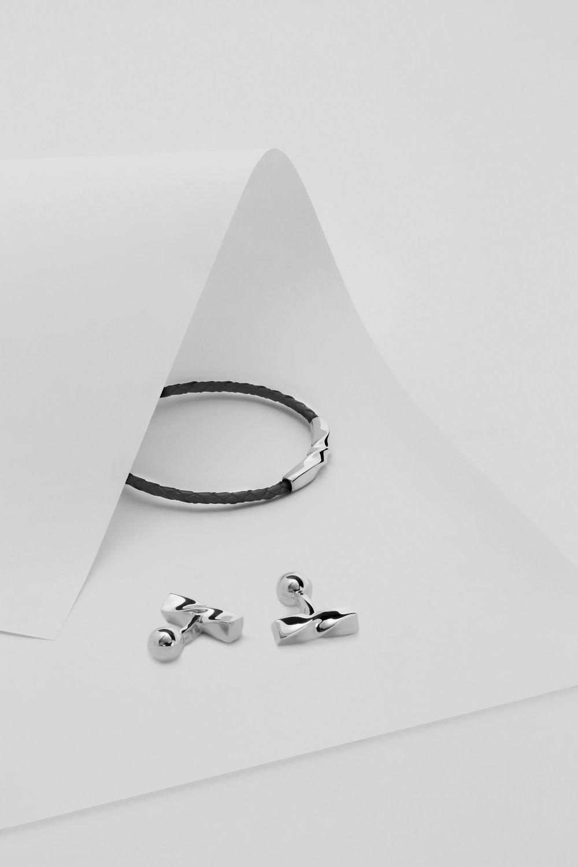 Helix Bracelet and cufflinks