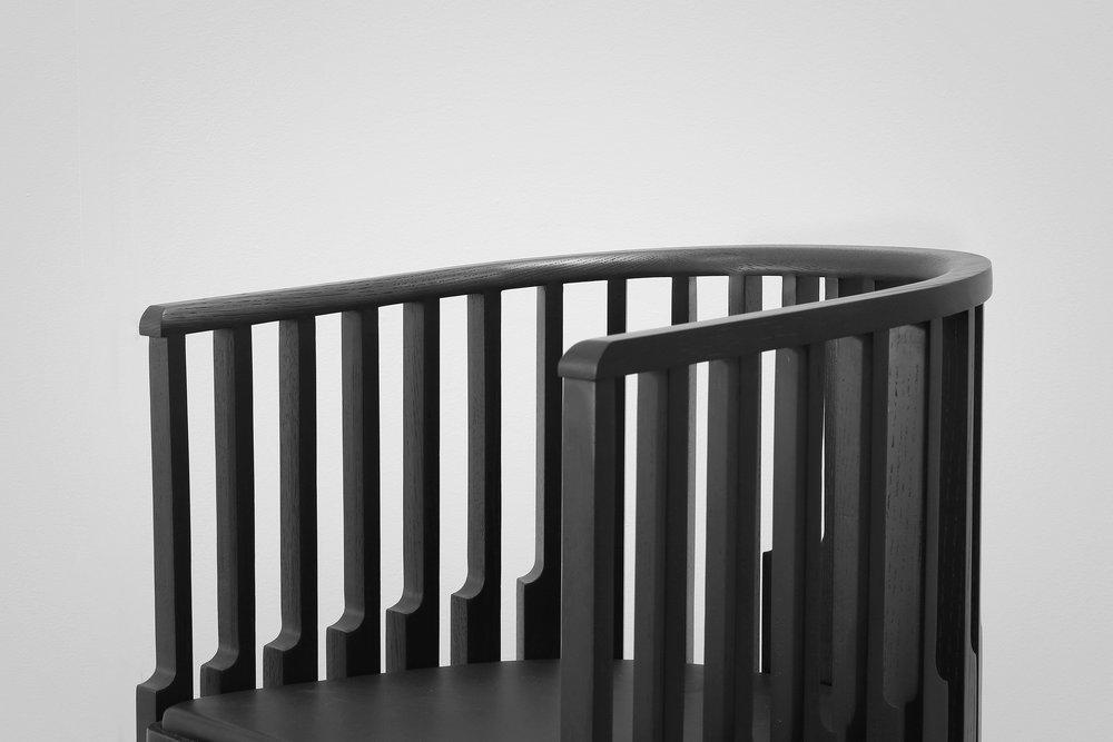 Chair — tinted oak detail