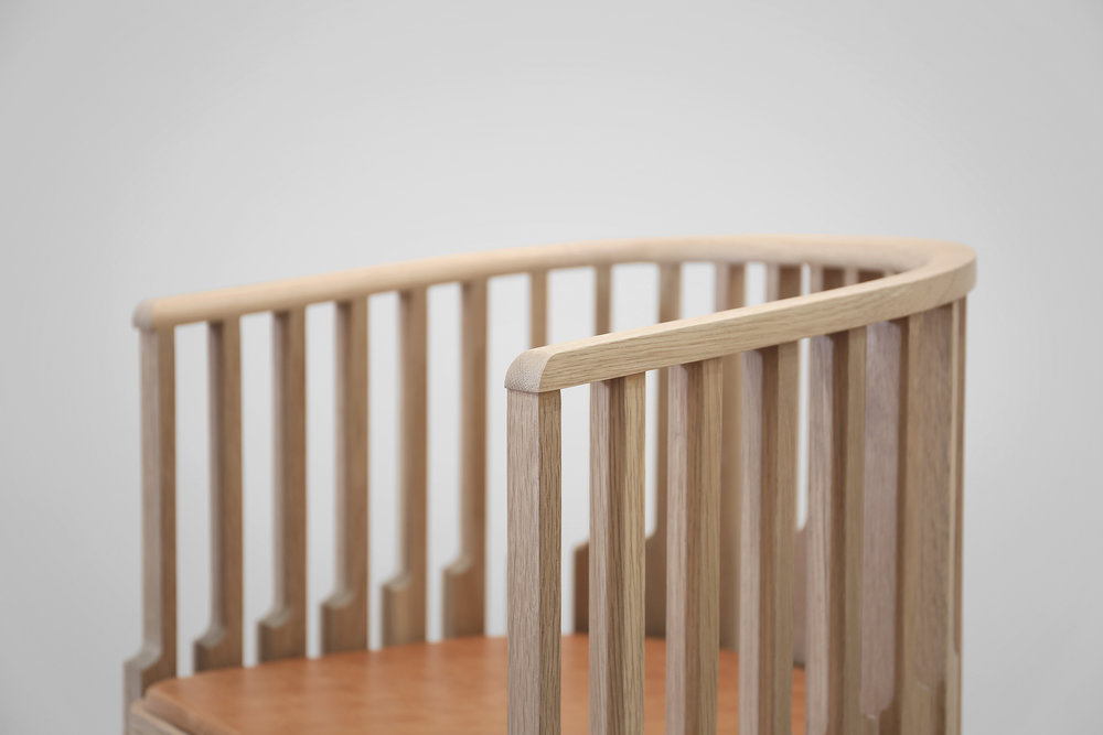 Chair detail — oak