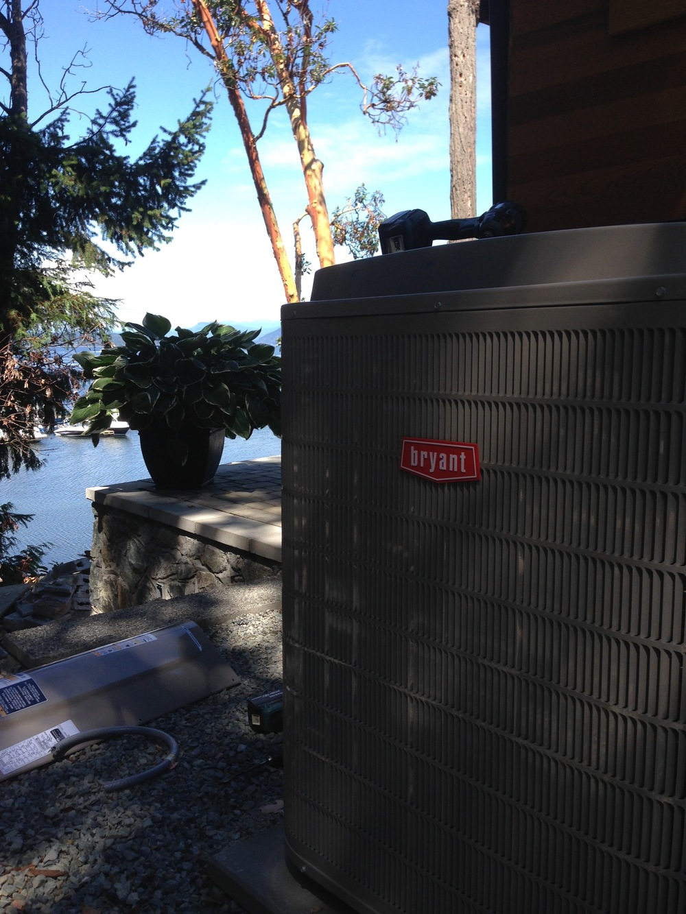 Heat Pump hook up with a great view!
