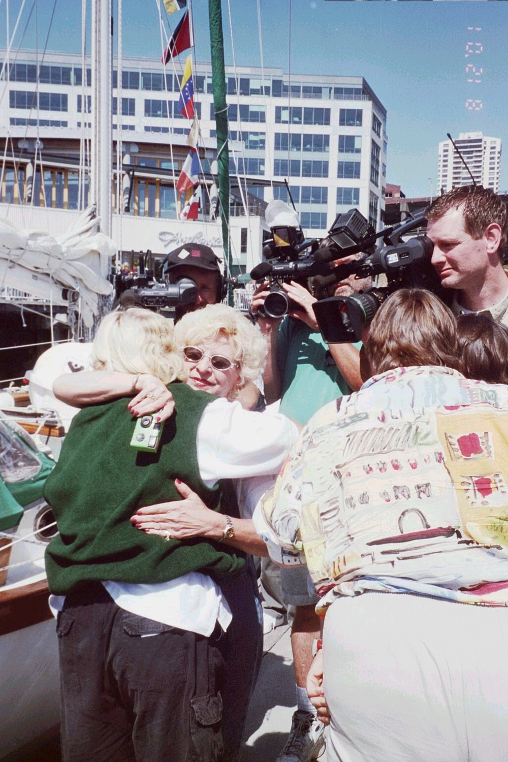 TV news media met us in Seattle at the end of the circumnavigation. So did my family from Oklahoma.