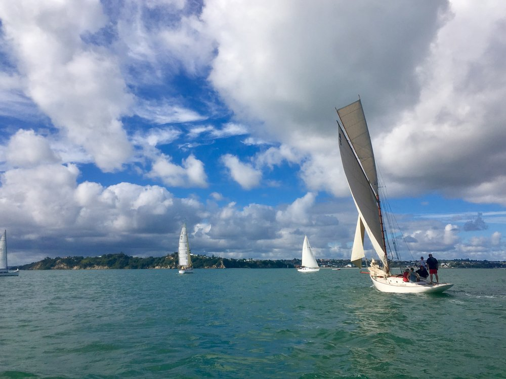 Skies over Classic Yacht Regatta in Auckland, New Zealand