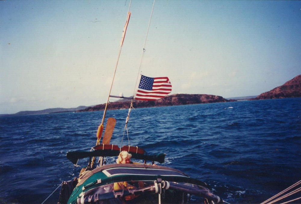 At 21, in moonlight, I first saw the ocean. - At 31, I went sailing. The experience lit a fire. By 40, I sailed more than 60,000 miles - including work as First Mate/ relief skipper on Nancy Erley's TETHYS, teaching women offshore as we circumnavigated the world. I didn't stop there.