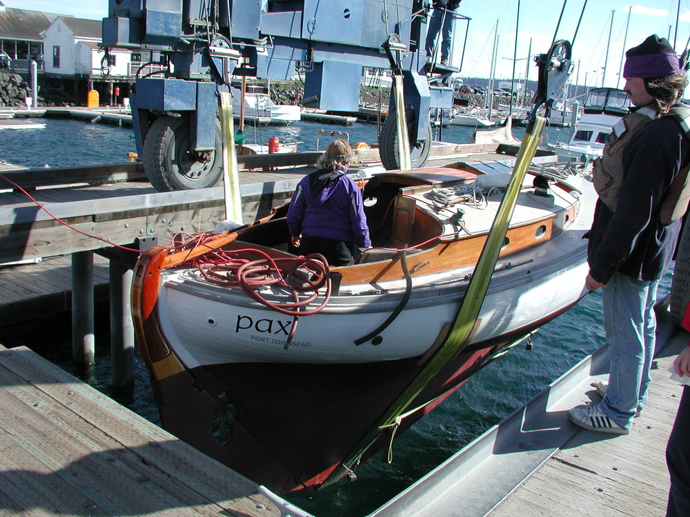 Wooden boat PAX: first launch after first haul