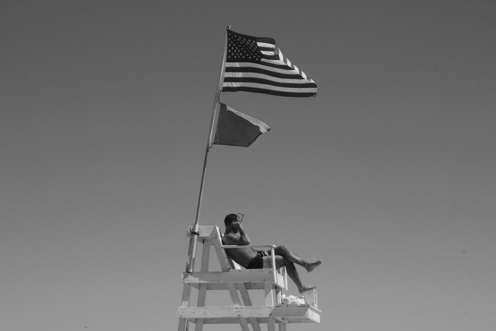 Hamptons B&W Lifeguard