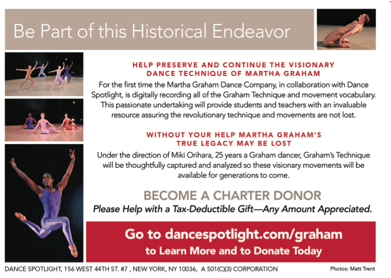 Martha Graham Foundation- Dance Spotlight