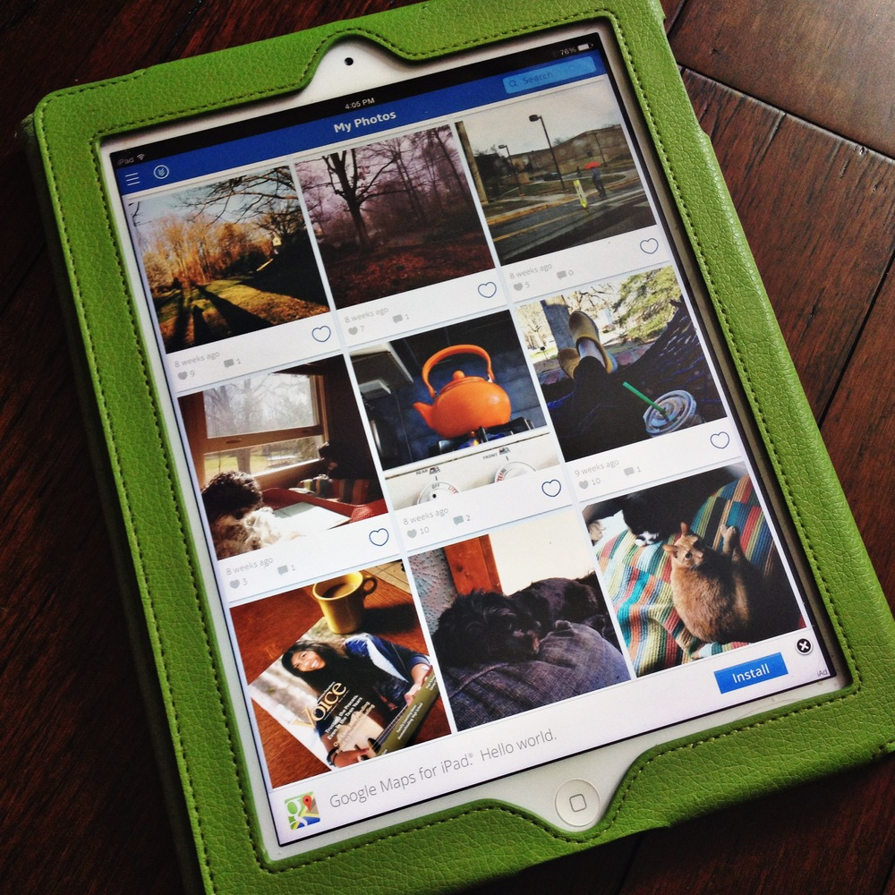 Grid view in Padgram