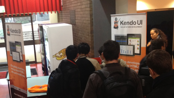 Kendo UI booth at DDD Melbourne 2012