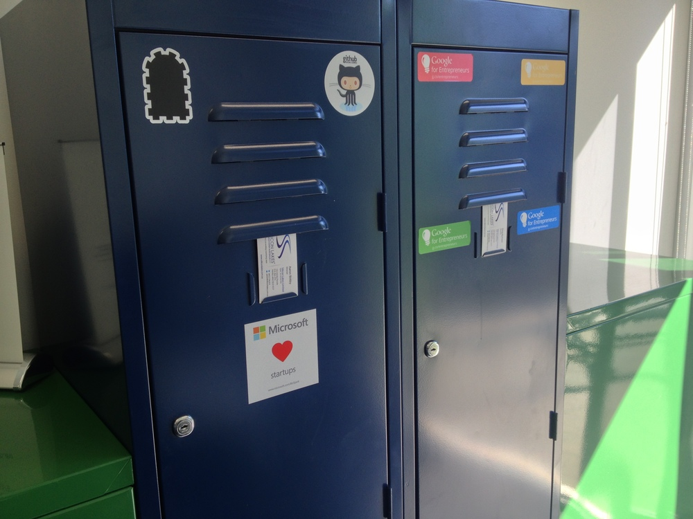 Lockers are available for permanent coworkers