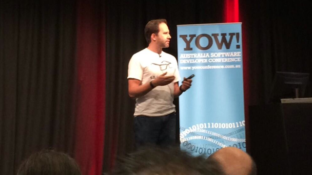 Scott Hanselman at YOW! 2013 (Brisbane) Photo credit:https://twitter.com/pbouwer/status/409972933365227520