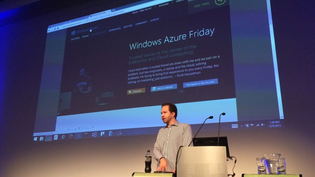 Scott Hanselman at Brisbane Azure/.NET User Groups  Photo credit: https://twitter.com/pbouwer/status/410189587651125248
