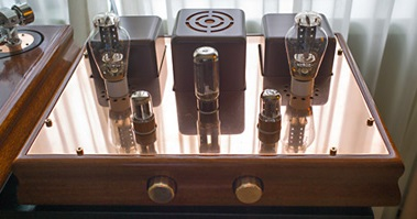 ...and a matching integrated tube amp to tie it all together.