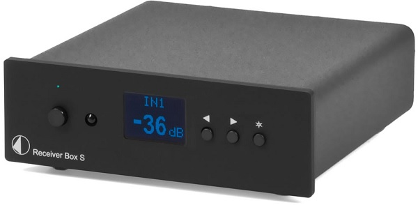 Stock photo of the Pro-ject Receiver Box S from their spec sheet, but this is exactly what mine looks like.
