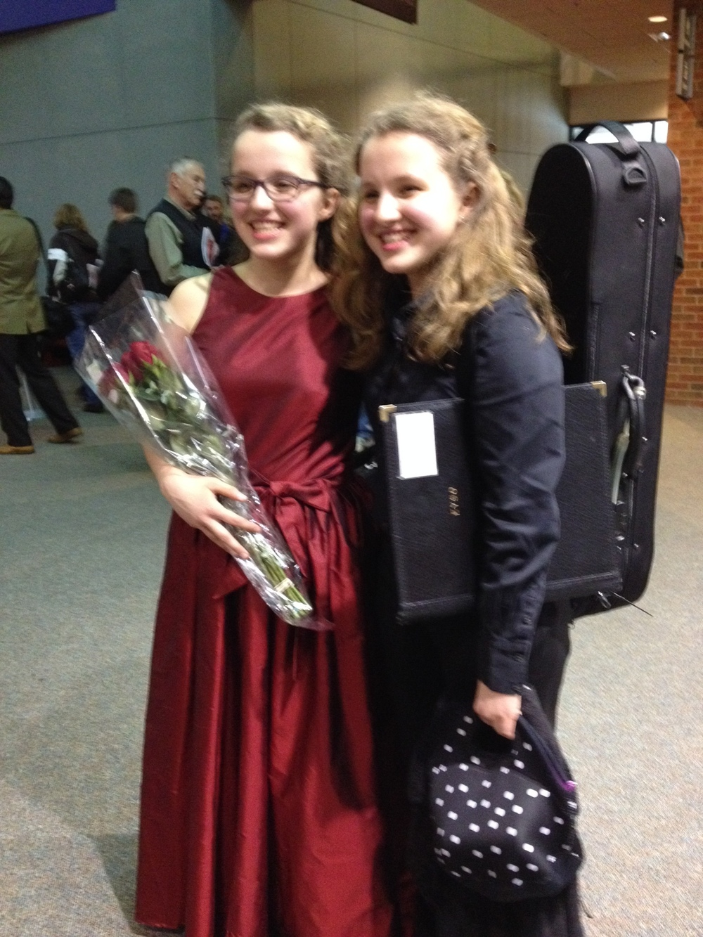 Trudie and Storey after Trudie's performance of Lalo cello concerto