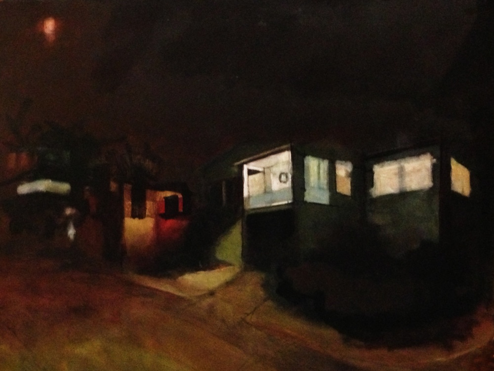 Lara Hoke, Oakland Nightscape, in-progress