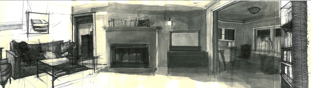 Spread from a Moleskine Japanese sketchbook