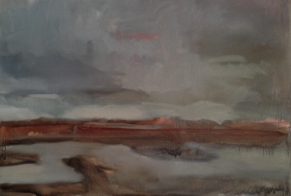 Dumbarton underpainting, Lara Hoke, oil on panel