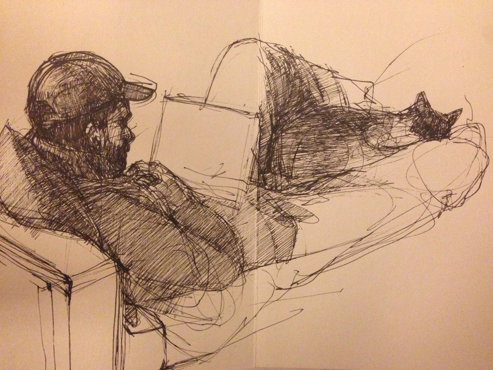 12/29/13, Moleskein Japanese sketchbook