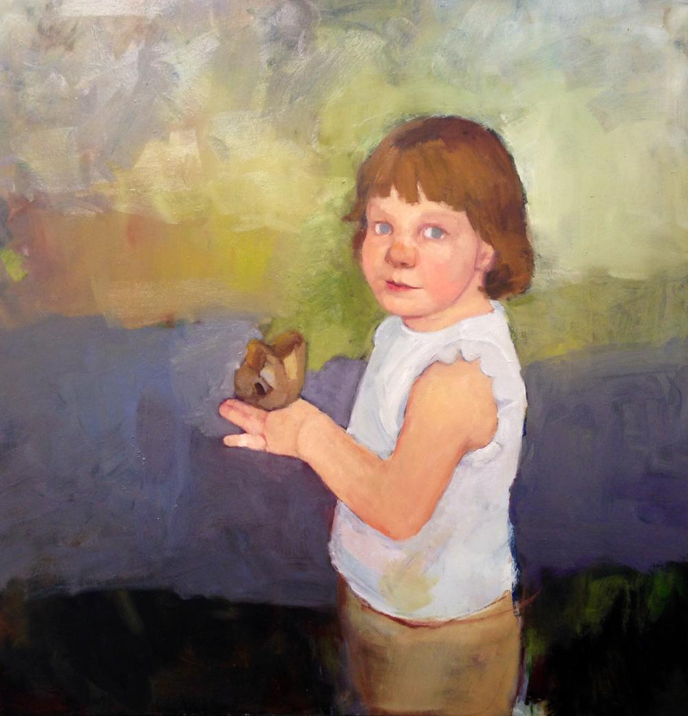 Isabella, oil on board, portrait commission in progress. 12/31/2013